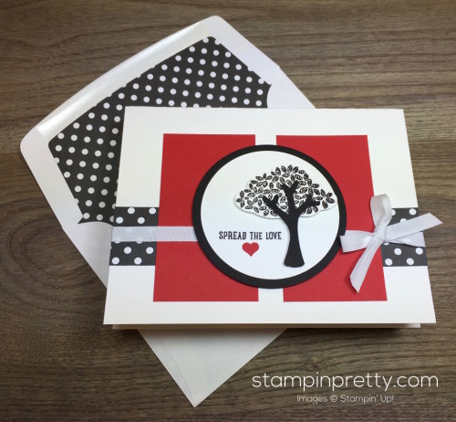 Stampin Up Sprinkles of Life Tree Builder Punch Card & Envelope By Mary Fish