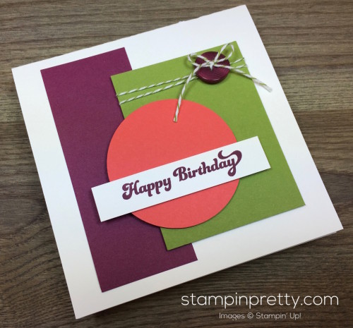Stampin Up That Thing You Did Masculine Birthday Card By Mary Fish StampinUp