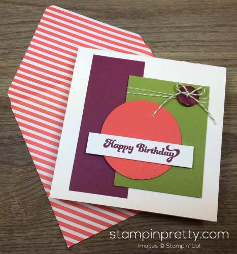 Stampin Up That Thing You Did Masculine Birthday Card & Envelope By Mary Fish StampinUp