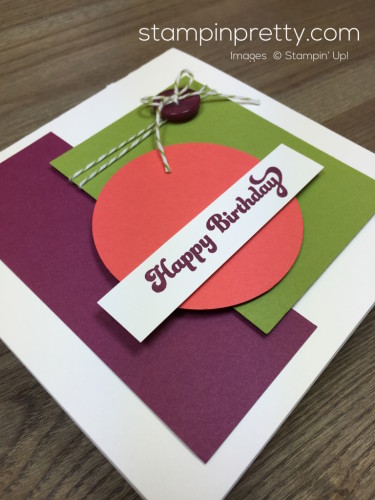 Stampin Up That Thing You Did Masculine Birthday Card Idea By Mary Fish StampinUp