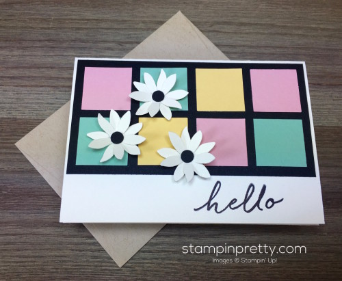 Stampin Up Watercolor Wishes Hello Card & Envelope by Mary Fish StampinUp