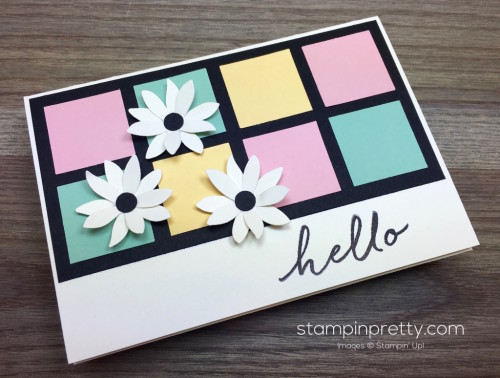 Stampin Up Watercolor Wishes Hello Card Idea by Mary Fish StampinUp