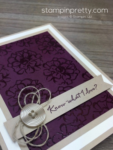 Stampin Up What I Love Card By Mary Fish StampinUp