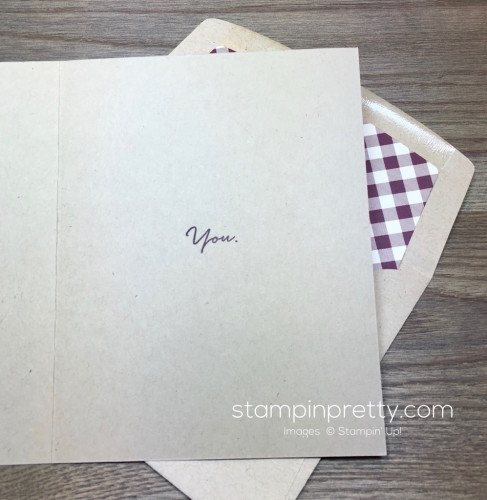Stampin Up What I Love Card & Envelope By Mary Fish StampinUp Interior