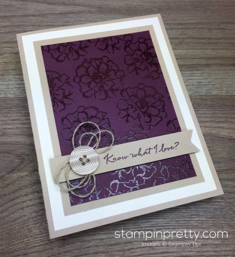 Stampin Up What I Love Card Idea By Mary Fish StampinUp