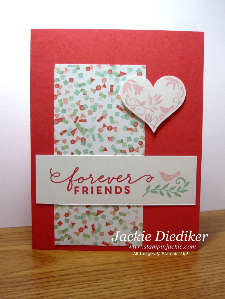 Simple Card Making Ideas Free Part - 35: Pals Paper Crafting Card Ideas Friends Forever Mary Fish Stampin Pretty  StampinUp