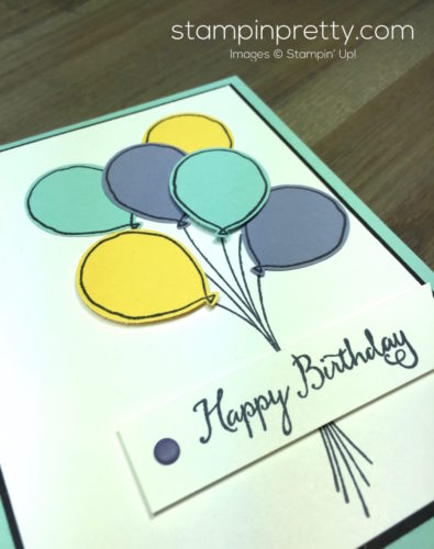 Stampin Up Balloon Celebration Balloon Punch Birthday Card By Mary Fish StampinUp