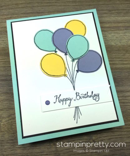 Stampin Up Balloon Celebration Birthday Card By Mary Fish StampinUp