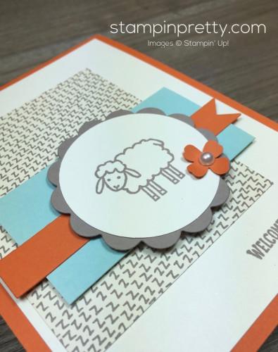 Stampin Up Barnyard Babies Baby Card By Mary Fish