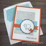 A Baby Card with Barnyard Babies
