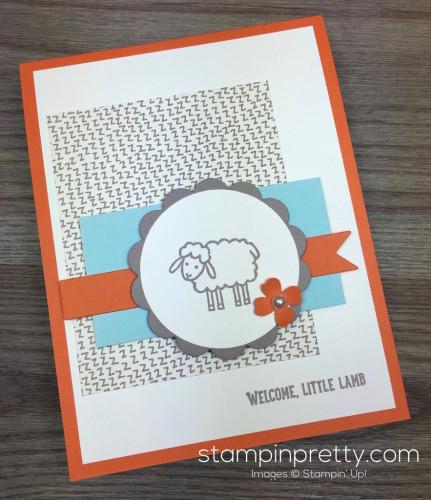 Stampin Up Barnyard Babies Baby Card Idea By Mary Fish