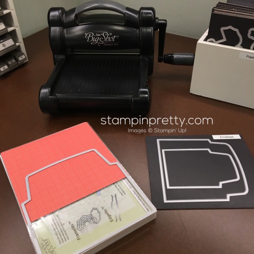 Stampin Up Big Shot Envelope Liners Framelits Dies