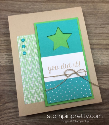 Stampin Up Bravo Congratulations Card By Mary Fish StampinUp
