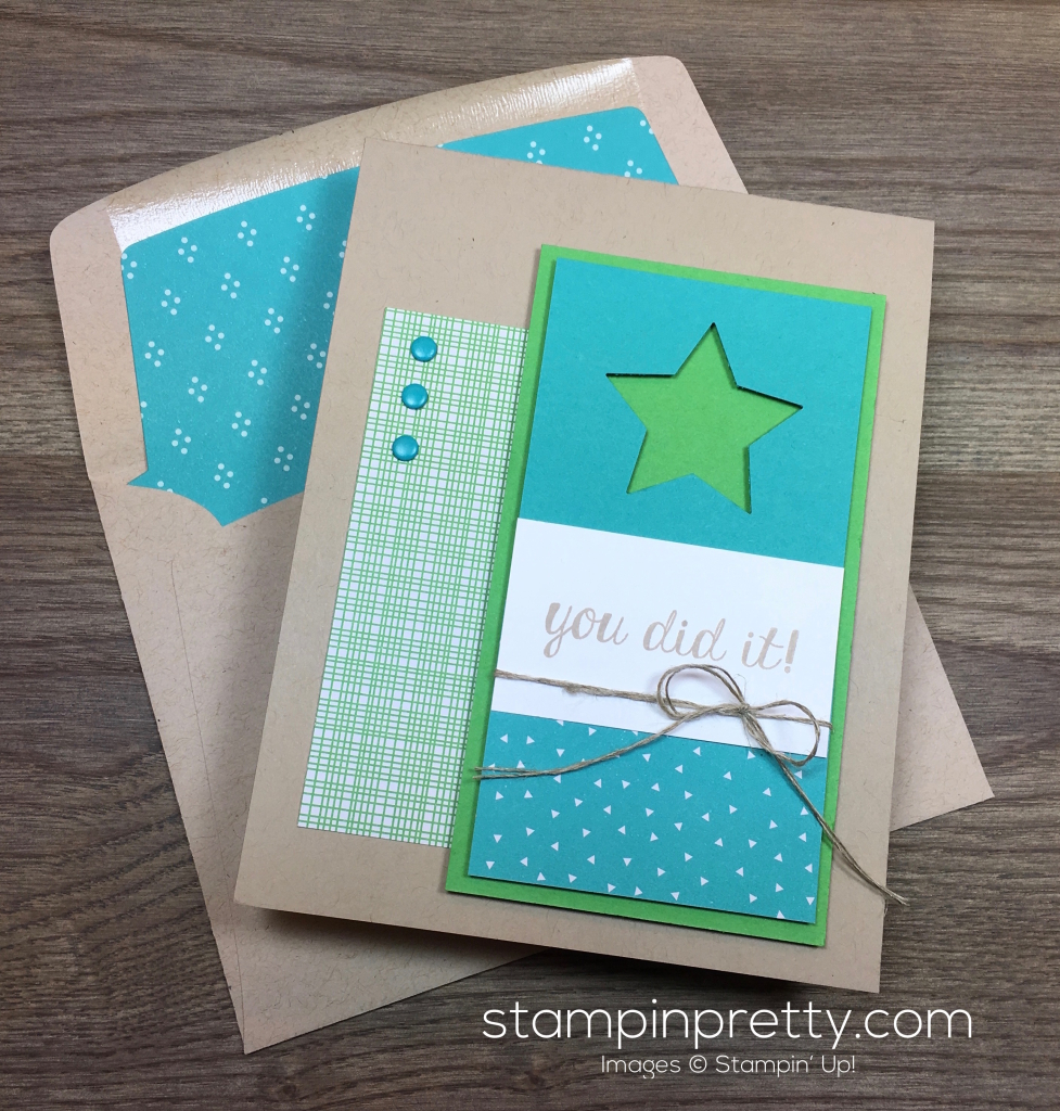 Stampin Up Bravo Congratulations Card & Envelope By Mary Fish StampinUp