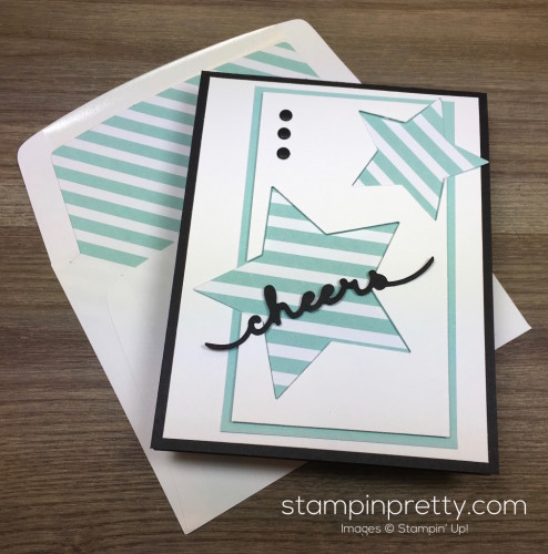 Stampin Up Congratulations Congrats Card Star Dies & Envelope By Mary Fish StampinUp
