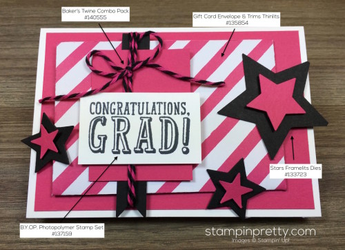 Stampin Up Congratulations Graduation Card By Mary Fish StampinUp Supply List