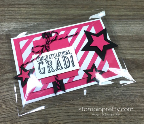 Stampin Up Congratulations Graduation Card & Clear Envelope By Mary Fish StampinUp