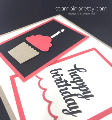 Stampin Up Cupcake Punch Birthday Card Idea By Mary Fish StampinUp