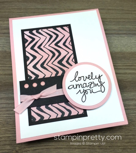 Stampin Up Lovely Amazing You Thank You Card By Mary Fish StampinUp