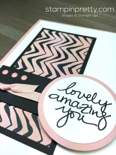 Stampin Up Lovely Amazing You Thank You Card Idea By Mary Fish StampinUp