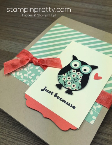 Stampin Up Owl Builder Punch Just Because Card By Mary Fish StampinUp