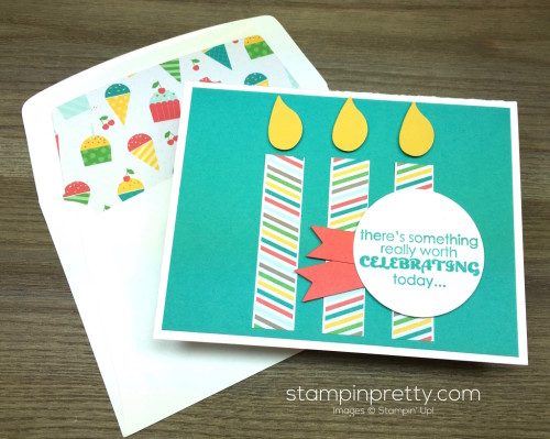 Stampin Up Remembering Your Birthday Card & Envelope By Mary Fish StampinUp