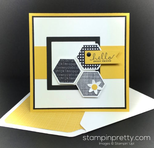 Stampin Up Six Sided Sampler Friend Card & Envelope By Mary Fish StampinUp