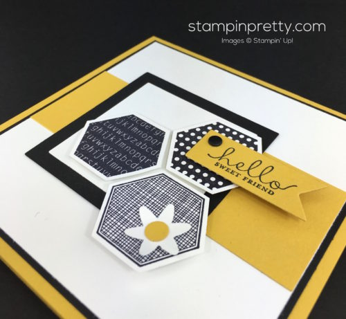 Stampin Up Six Sided Sampler Hexagon Punch Cards By Mary Fish StampinUp