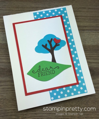 Stampin Up Tree Builder Punch Friend Card By Mary Fish