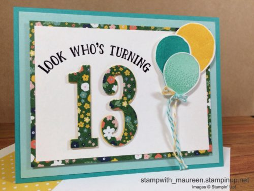 Pals Paper Crafting Card Ideas Look Whos Turning Mary Fish Stampin Pretty StampinUp