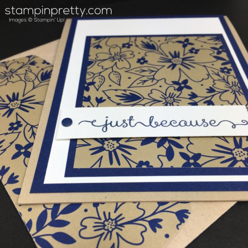 Stampin Up Affectionately Yours Card Idea & Envelope By Mary Fish StampinUp