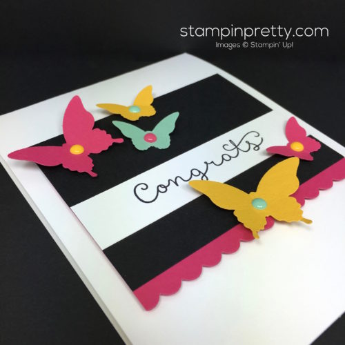 Stampin Up Cottage Greetings Congrats Congratulations Card Butterfly Punch By Mary Fish StampinUp