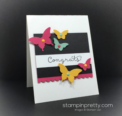 Stampin Up Cottage Greetings Congrats Congratulations Card By Mary Fish StampinUp