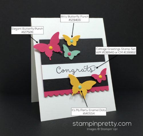 Stampin Up Cottage Greetings Congrats Congratulations Card By Mary Fish StampinUp Supply List