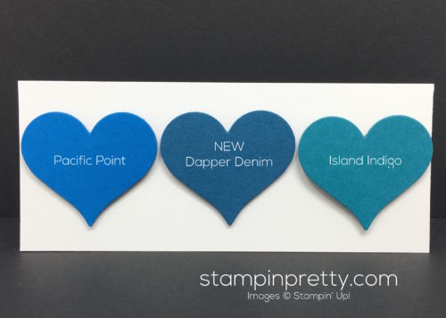 Stampin Up Dapper Denim Color Comparison