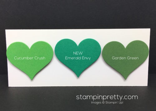 Stampin Up Emerald Envy Color Comparison