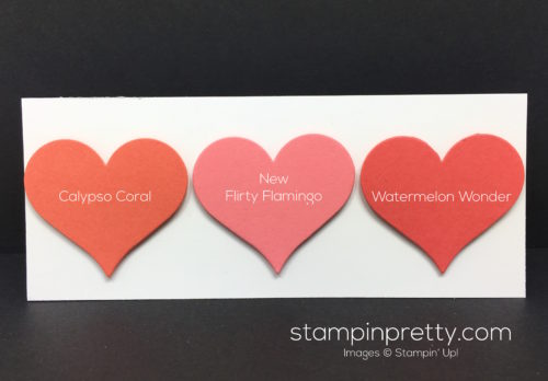 Stampin Up Flirty Flamingo Color Comparison