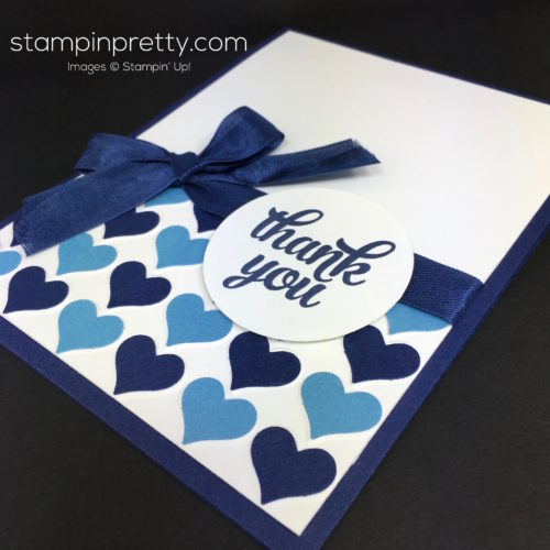 Stampin Up Happy Heart Thank You Card Idea - Mary Fish StampinUp