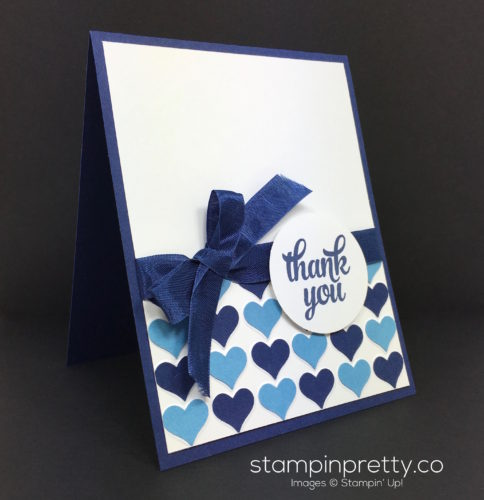 Stampin Up Happy Heart Thank You Card - Mary Fish StampinUp