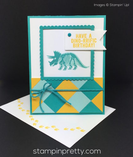 Stampin Up No Bones About It Birthday Card & Envelope - Mary Fish StampinUp