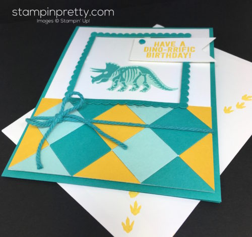 Stampin Up No Bones About It Birthday Card Idea - Mary Fish StampinUp