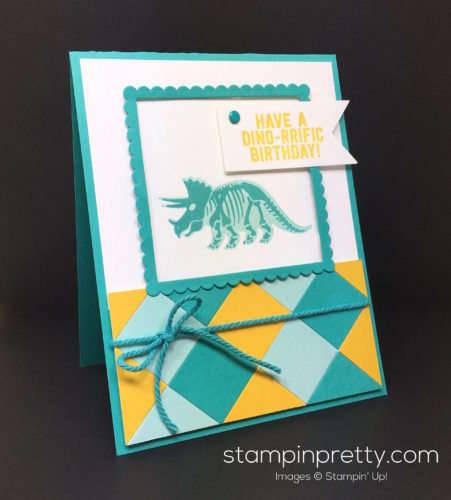 Stampin Up No Bones About It Birthday Card - Mary Fish StampinUp