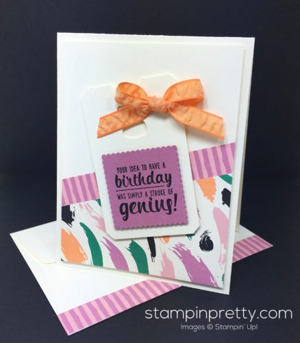 Stampin Up Painters Palette Birthday Card & Envelope - Mary Fish StampinUp