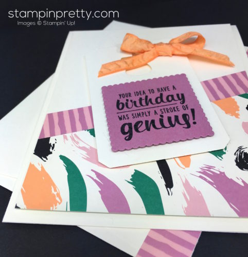Stampin Up Painters Palette Birthday Card Tag - Mary Fish StampinUp