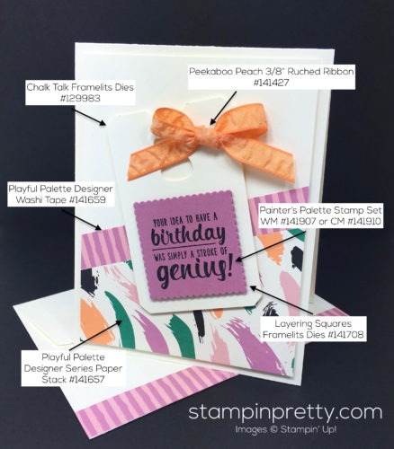 Stampin Up Painters Palette Birthday Cards - Mary Fish StampinUp Supply List