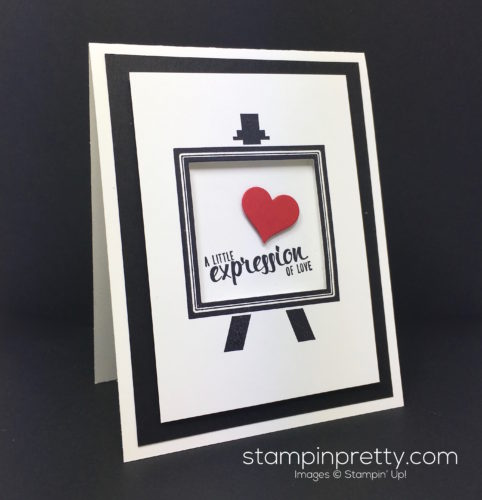 Stampin Up Painters Palette Love Card - Mary Fish StampinUp