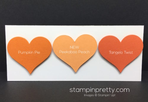Stampin Up Peekaboo Peach Color Comparison
