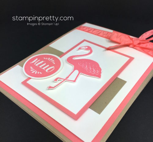 Stampin Up Pop of Paradise Hello Card Idea - Mary Fish StampinUp