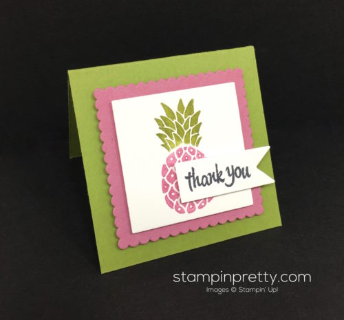 Stampin Up Pop of Paradise Thank You Card Idea - Mary Fish StampinUp