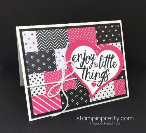 Stampin Up Pop of Pink Layering Love Card - Mary Fish StampinUp